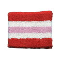 Outlet wristband 6 cm border type (red, white, pink) men and women (unisex) unisex