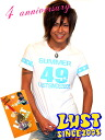 ★ special anniversary 4 planning ★ LUST (lust) logo TEE (for sale give-aways plum Shan Pai キューピース strap) [Shibuya series, brother of surf meaning meting rock evil-evil Luo OLA OLA by car system SALE