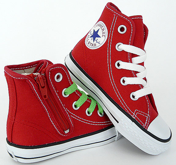 CONVERSE KIDS���塼�� : ����С��� �����륹���� ���å�/�Ҷ��ѥ��ˡ�������CHILD ALL STAR RZ HI�� RED