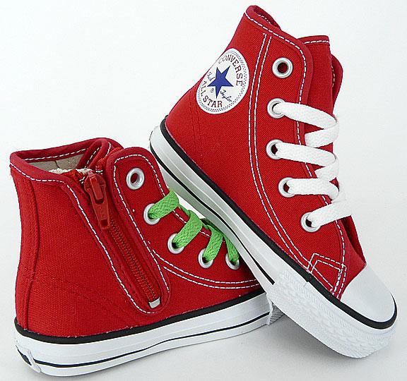 CONVERSE KIDSシューズ : コンバース オールスター キッズ/子供用スニーカー「CHILD ALL STAR RZ HI」 RED