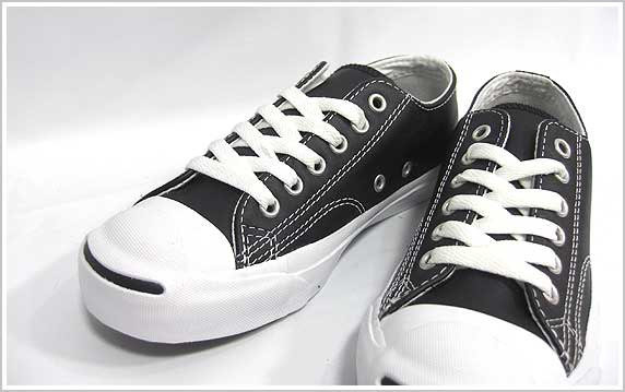 ����С��� �쥶�����塼�� ����å��ѡ����� �ܳץ��ˡ����� �֥�å� CONVERSE JACK PURCELL LEATHER