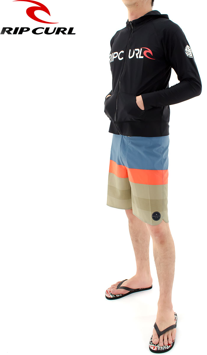RIPCURL ラッシュガード メンズ 長袖 パーカー ジップアップ X01-872