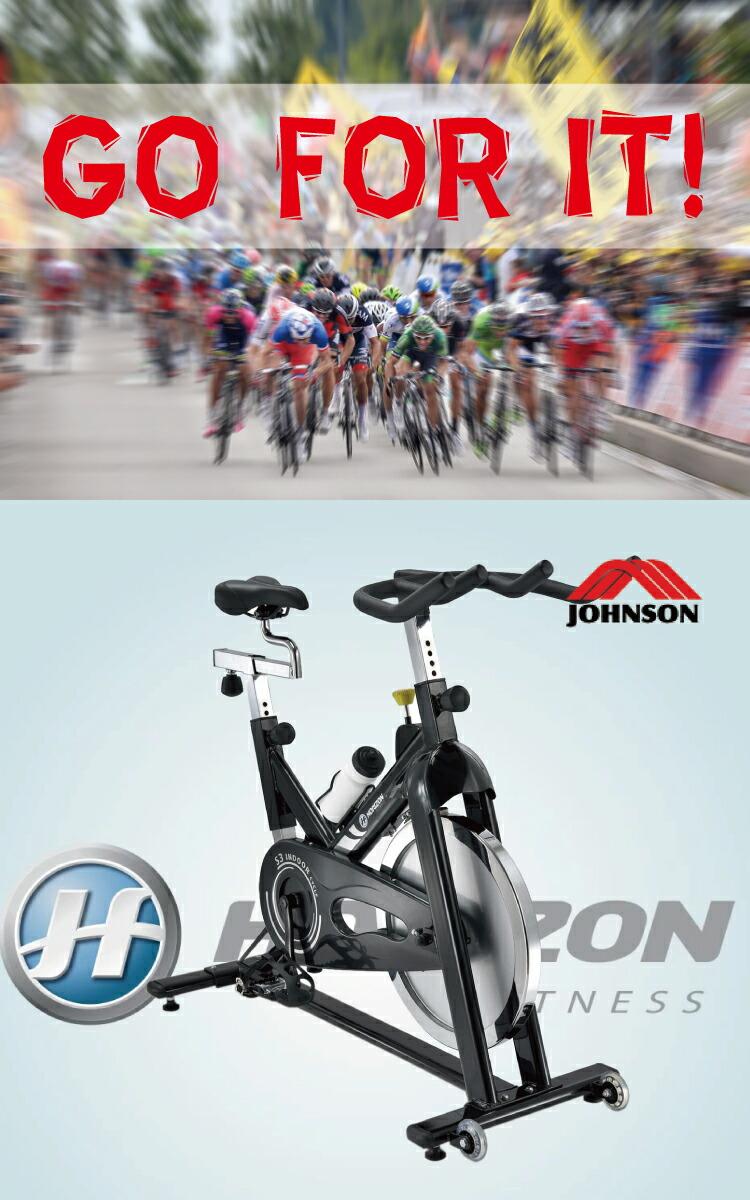 スピンバイク エアロバイク ロードレーサーのオフシーズントレーニングにも最適! ジョンソンヘルステック インドアサイクル S3