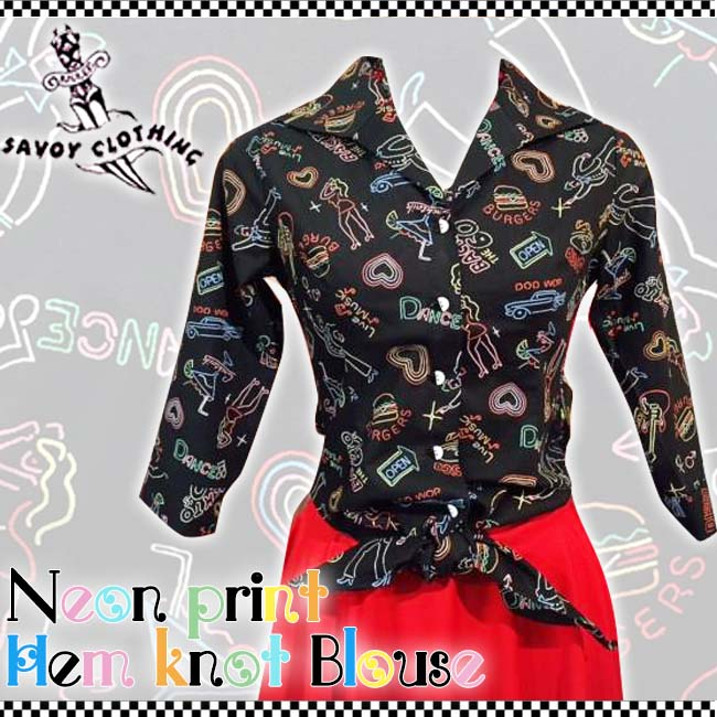��AVOY CLOTHING������ ����潟� Hem knot blouse