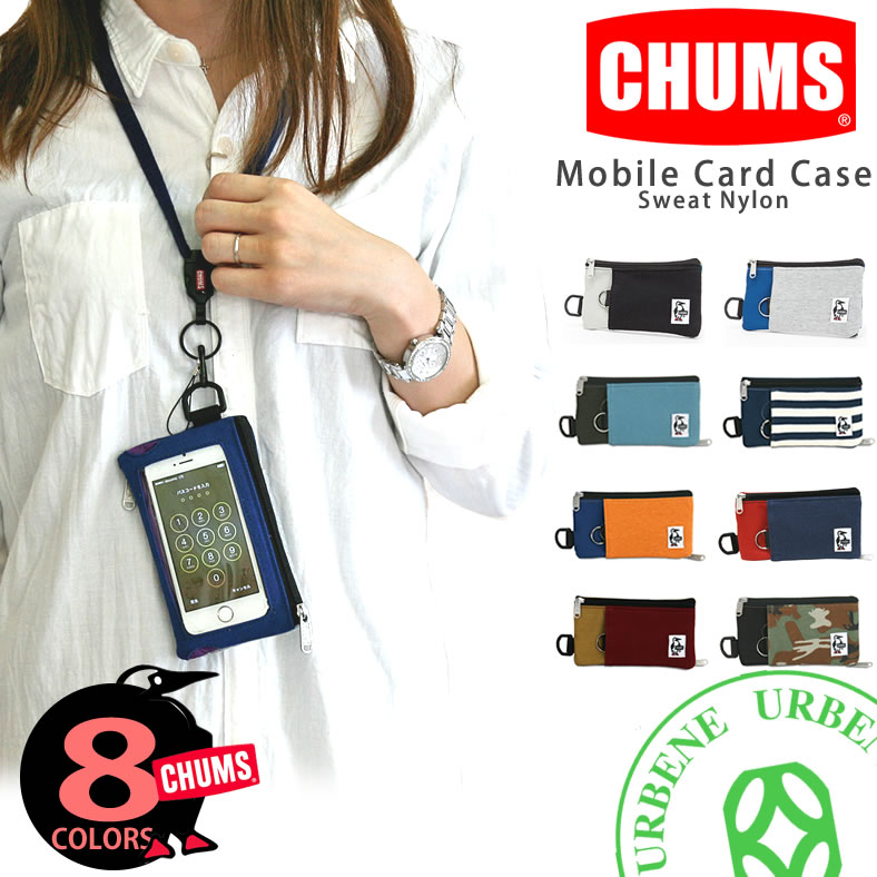 ����ॹ �ݡ��� CHUMS ���ޡ��ȥե��󥱡����������åȥʥ���� Smart Phone Case Sweat Nylon (ch60-2052) CHUMS �ݡ���