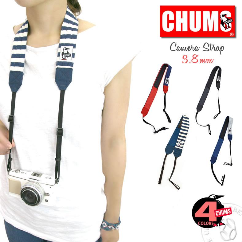 チャムス CHUMS ストラップ スウェット ナイロン カメラ ネックストラップ (ch60-2184 ch60-0700) 一眼レフ チャムス CHUMS ショルダー デジカメ ファッション雑貨 小物