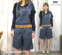 Domingo DMG(D.M.G) light ounce cotton hemp denim overall salopette short pants // Lady's / Rakuten /fs3gm