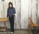 Domingo DMG(D.M.G) dot print long sleeves shirt jacket (blouse / outer /18-421X) Lady's / Rakuten / sale /SALE/ deep-discount / casual shirt / ディーエムジー / denim / jeans)