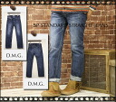 Domingo DMG(D.M.G) cotton distressed machining 5 Pocket standard — de straight jeans (denim/regular straight/11-136 a) ladies / women / spellbound / beard / stitch / jeans/g bread / made in Japan