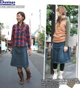 Domingo DMG(D.M.G) used cutting knee-length A line right once denim skirt (knee-length / jeans/17-200 C) and ladies / women / Rakuten
