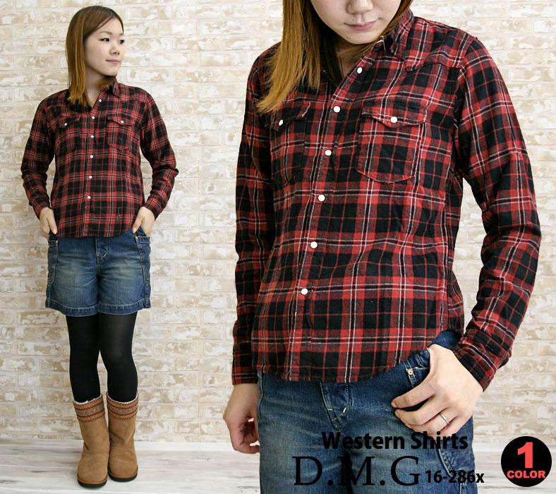 ドミンゴDMG(D.M.G)ウエスタンチェックシャツ(dmg,dmg,16,286x