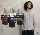 DOVETAIL( ダブテイル) thermal five minutes sleeve U neck dot pattern cut-and-sew (dovetail-7189615)/ Rakuten /10P11Jan14