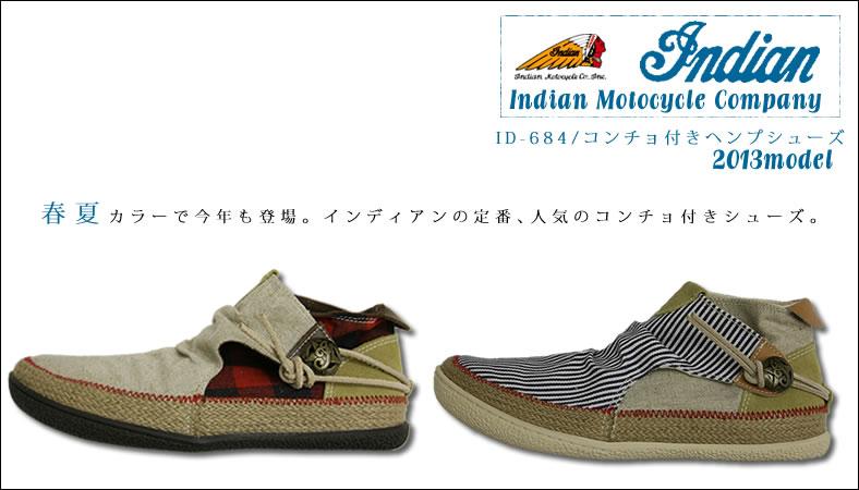 Indian Motocycle Company(インディアンモトサイクルカンパニー)コンチョ付きヘンプシューズ(id-1259)