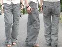 JOHNBULL ( jumble ) ライトオンスヒッコリーデニムワークスレンダー pants baggy jeans (Womens) / / Rakuten