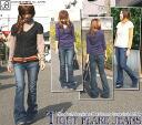 JOHNBULL ( jumble ) distressed jeans ストレッチセルビッチデニムタイトフレアー ( ブーツカットスリム jeans denim ) (Womens) / / Rakuten