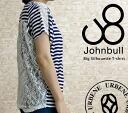 Jumble ladies JOHNBULL big silhouette border race short sleeve T shirts 'BORDER LACE TEE (zc075) women's fashion Tops T shirt short sleeve logo urbene Arven S M white black