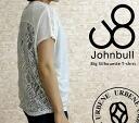 "Race t-shirt JOHNBULL big silhouette ladies John Bull ""LACE TEE (zc076) ladies fashion Tops T shirt short sleeve solid sewn white black Rakuten urbene Arven"
