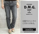 Domingo DMG(D.M.G ) ladies distressed black denim 5 P tight straight jeans (denim/pants/13-629 c/11-115 A) / sale /SALE Rakuten / limited / discount / tapered classic