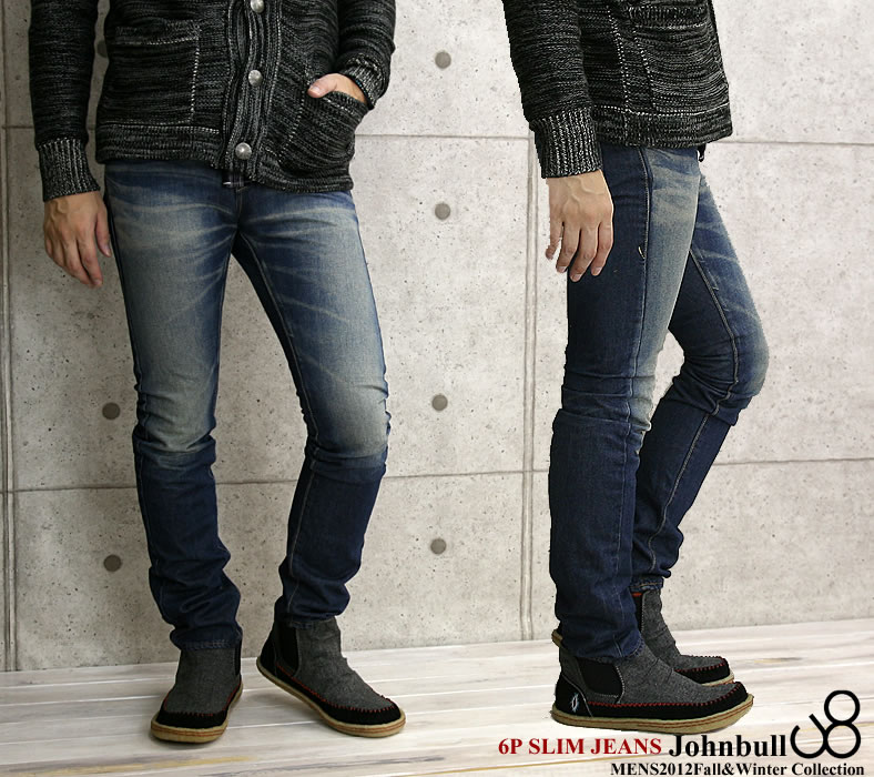 6 JOHNBULL( John Bull) ユーズド processing pocket slim jeans (11,676-15)