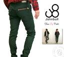 John Bull mens JOHNBULL asymmetric stretch zip back style slim color pants (11929 / 11928 / 11104) Rakuten MENS men's clothing bottoms long pants skinny pants S M L LL