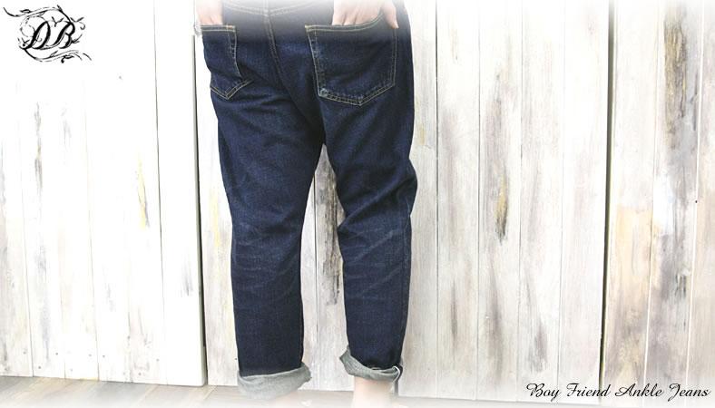 DEEP BLUE (Deep Blue) boyfriend ankle jeans