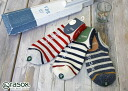 rasox ラソックス border Lowe socks socks ca141sn01 mens Womens unisex Sandals for colorful L-shaped comfortable Japan cotton cold high Rakuten urbene Arven 10P31Aug14