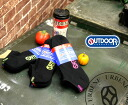 OUTDOOR PRODUCTS ( factory ) socks 3 p black color pile casual logo ankle sock (paag301z) 3 feet set rates ankle-length men's ladies ' men women classic 1 husband sports colorful Rakuten shoulder plain