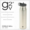 BIG event during ★ G2V SINGLE WALL single wall flickered (800 ml) SB1-800 [easy-to-wash stainless steel fashionable straw bottle (bottle stainless steel bottle water bottle straw)]