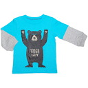 Carters ( Carter's) boys water color bear Mr. TOUGH GUY layering style long sleeve t-shirt, bear pattern Ron T, tops sales, Gift Giveaway