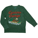 George man and woman combined use Yuki Green sled play Curious George long sleeves shirt of the old navy (OLD NAVY)x monkey, dark green tops sale, green Ron T, long sleeves T-shirt fs3gm