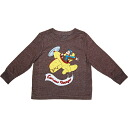 Pilot George man and woman combined use Brown Curious George long sleeves T-shirt of the old navy (OLD NAVY)x monkey, brown tops sale, Ron T, long sleeves shirt fs3gm