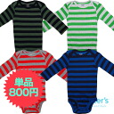 Horizontal stripe boy long sleeves body suit for Carter's (Carter's) boys, baby gift, present, rompers, dark blue cover oar sale, cotton underwear, man and woman combined use, regular article, body suit 10P11Jan14