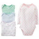 Carters Carter's 2014 new fall, for girls fall garden story long sleeve Bodysuit set 4 pieces, baby gifts, floral print rompers, pink pajamas, cotton underwear, genuine, purple body suit, combination underwear, short underwear