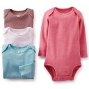 Carters Carter's 2014 Winter latest made for girls vintage rose long sleeve Bodysuit set 4 pieces, baby gifts, plain rompers, red Pink White, cotton underwear, white, Brown, body suits