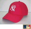 MLB measure 3D cap DX ★ New York Yankees ★ American red (cinnabar red) (cloth thickness type)