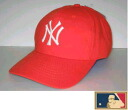 MLB measure 3D cap DX ★ New York Yankees ★ orange (cloth thickness type)