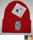 "MLB measure knit cap DX ""Seattle Mariners"" RED"