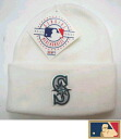 "MLB measure knit cap DX ""Seattle Mariners"" WH"
