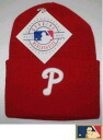 "MLB measure knit cap DX ""Phillies"" RED"
