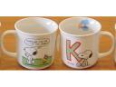 "SNOOPY Snoopy ★ initial mug ""K"""
