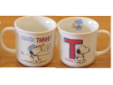 "SNOOPY Snoopy ★ initial mug ""T"""