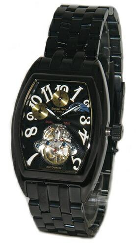 Royal Polo RW-303B★サン&ムーン★デュアルタイム機能搭載自動巻き★メンズ腕時計