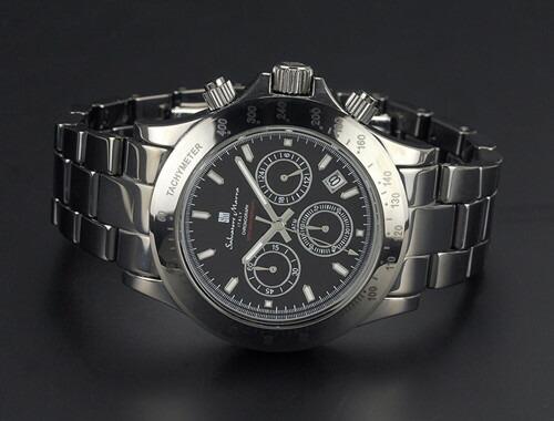 腕時計 メンズ クロノグラフ 腕時計 サルバトーレマーラ SalvatoreMarra 10周年記念モデル腕時計sm12117-bk