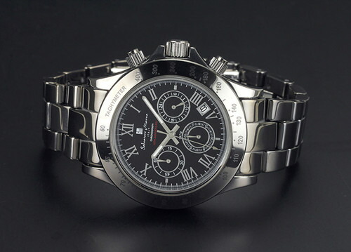 腕時計 メンズ クロノグラフ 腕時計 サルバトーレマーラ SalvatoreMarra 10周年記念モデル腕時計sm12117-bkr