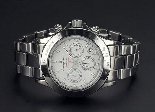 腕時計 メンズ クロノグラフ 腕時計 サルバトーレマーラ SalvatoreMarra 10周年記念モデル腕時計sm12117-sv