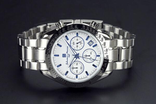 腕時計 メンズ 人気 ブランド Salvatore Marra SM12135-SSWHBL
