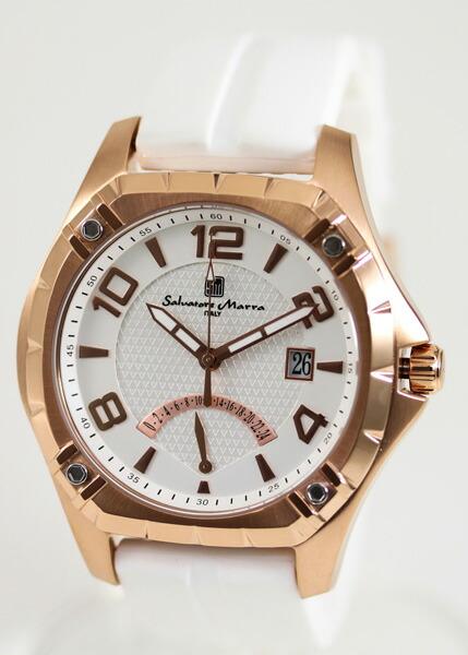 サルバトーレ・マーラ メンズ腕時計 SM10109-PGWH Salvatore Marra