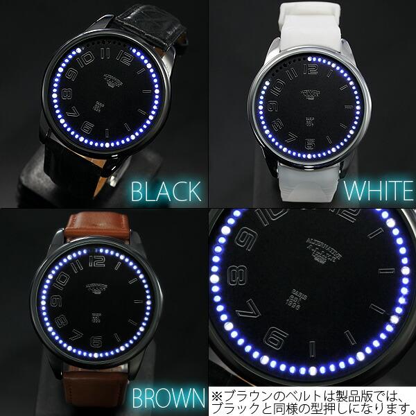 LED メンズ 腕時計 タッチ式ムーブメント 復刻