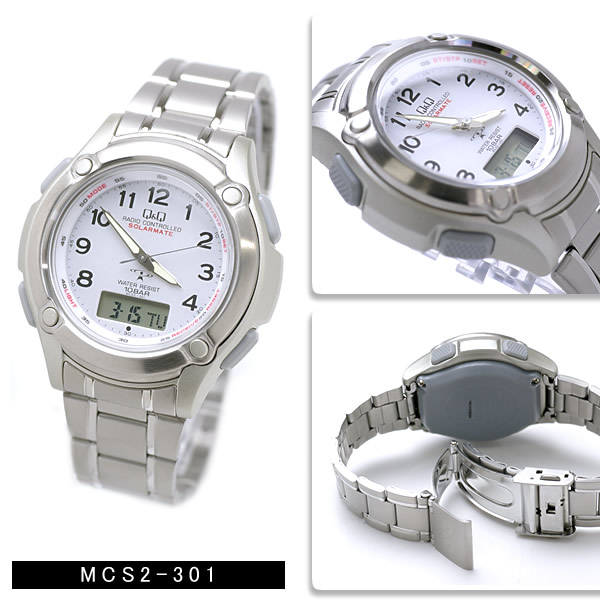 シチズン ソーラー電波アナデジ メンズ 腕時計 MCS1-301 MCS1-302 MCS2-301 MCS2-302 Q&Q