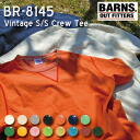BARNS BR-8145 tunion flat Cima sewing vintage crew neck T-shirt[fs01gm]